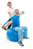 Senior man in gym Stock Photography