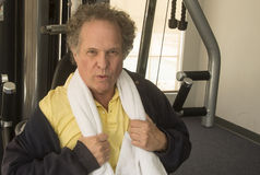 Senior Man at Gym Royalty Free Stock Photography