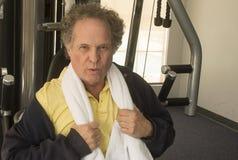 Senior Man at Gym. Mature senior man in a gym setting Royalty Free Stock Photography