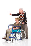 Senior man handicapped wife Royalty Free Stock Photos
