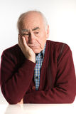 Senior man has problems. Old senior man having problems, thinking, beeing serious Stock Image
