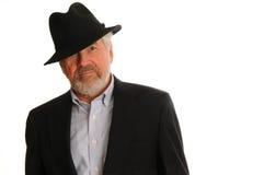 Senior Man in Hat Royalty Free Stock Image