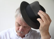 Senior man with hat Stock Image