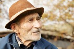 Senior man in hat Stock Photo