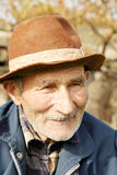 Senior man in hat Stock Photography