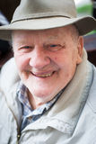 Senior man with hat outdoor Royalty Free Stock Photo