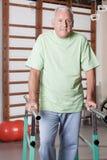 Senior Man having ambulatory therapy Stock Image