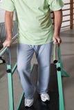 Senior Man having ambulatory therapy Royalty Free Stock Photography