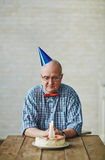 Senior man having anniversary Stock Photography