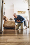Senior Man Having A Heart Attack Royalty Free Stock Photo