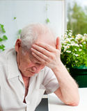 Senior Man With Headache Royalty Free Stock Photo