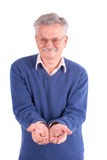 Senior man with hearing aids Stock Photo