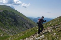Senior man hiking Royalty Free Stock Images