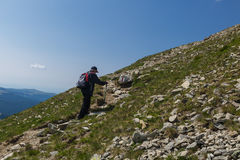 Senior man hiking Stock Images