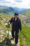 Senior man hiking Stock Photos