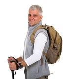Senior man hiking Stock Image