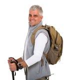 Senior man hiking Stock Image
