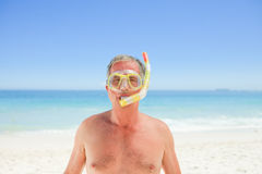 Senior man with his mask Stock Photos