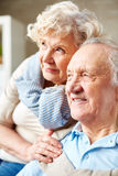 Senior man and his wife Stock Image