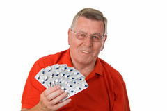 Senior man holding medicaments Stock Images
