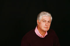 Senior man horizontal Stock Images