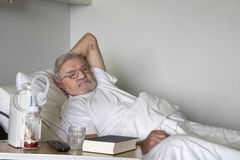 Senior man in hospital Royalty Free Stock Photo