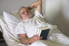 Senior man in hospital stock image