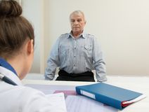 Senior man at hospital Royalty Free Stock Images