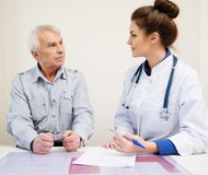 Senior man at hospital Stock Image