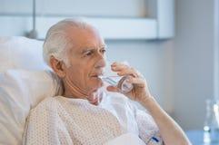 Senior man at hospital royalty free stock image