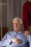 Senior man with incurable disease Royalty Free Stock Photo