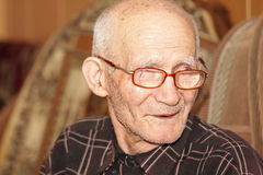 Senior man indoors Stock Images