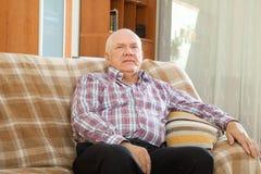 Senior man in interior Stock Photo