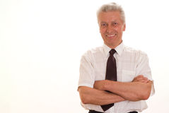 Senior man isolated Royalty Free Stock Image