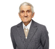 Senior man isolated on white Royalty Free Stock Photography