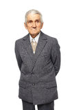 Senior man isolated on white Stock Photo