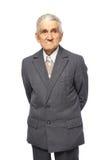 Senior man isolated on white Stock Photo