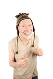 Senior man in knit cap Stock Images