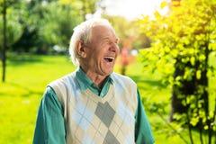 Senior man laughing. Royalty Free Stock Photo