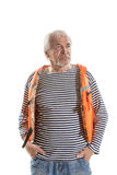 Senior man in life vest Royalty Free Stock Photography
