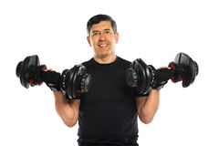 Senior Man Lifting Dumbbells Royalty Free Stock Image