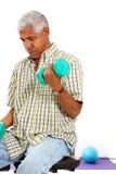 Senior Man Lifting Weights Royalty Free Stock Photo