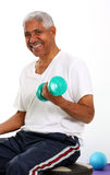 Senior Man Lifting Weights Stock Photography