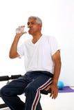 Senior Man Lifting Weights Royalty Free Stock Images