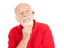 Senior Man Listening Stock Photos