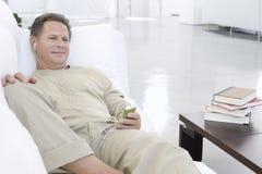 Senior Man Listening Music Royalty Free Stock Images