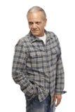 Senior man looking away Stock Photo
