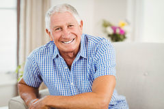 Senior man looking at camera Royalty Free Stock Image