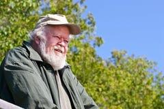 Senior man looking down royalty free stock photography