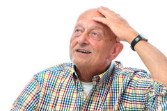 Senior man looking up Royalty Free Stock Photography